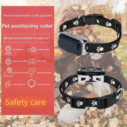 Smart GPS Dog Collar Waterproof Mini Wifi GPS Pet Tracker