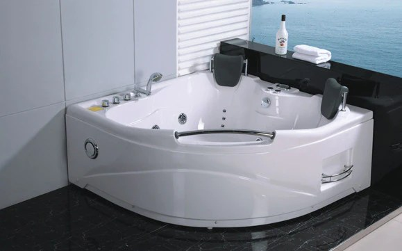 2 Person Jetted Whirlpool Massage Hydrotherapy Bathtub Tub