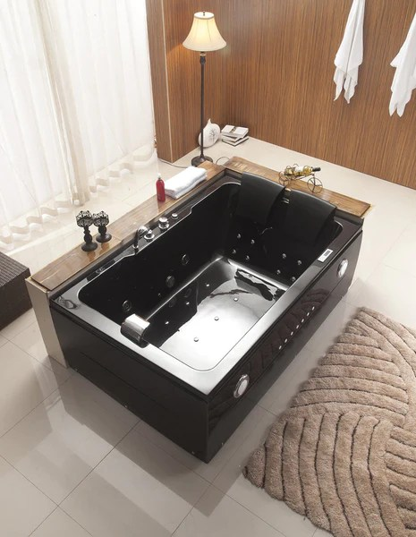 2 Person Black Jetted Whirlpool Massage Hydrotherapy Bathtub Tub San Diego Factory Direct