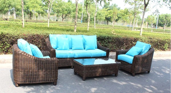 San Diego Outdoor Wicker Patio Furniture   SDI Deals     San Diego     Catalina Full Round Weave 4 Piece Wicker Outdoor Patio Furniture Set