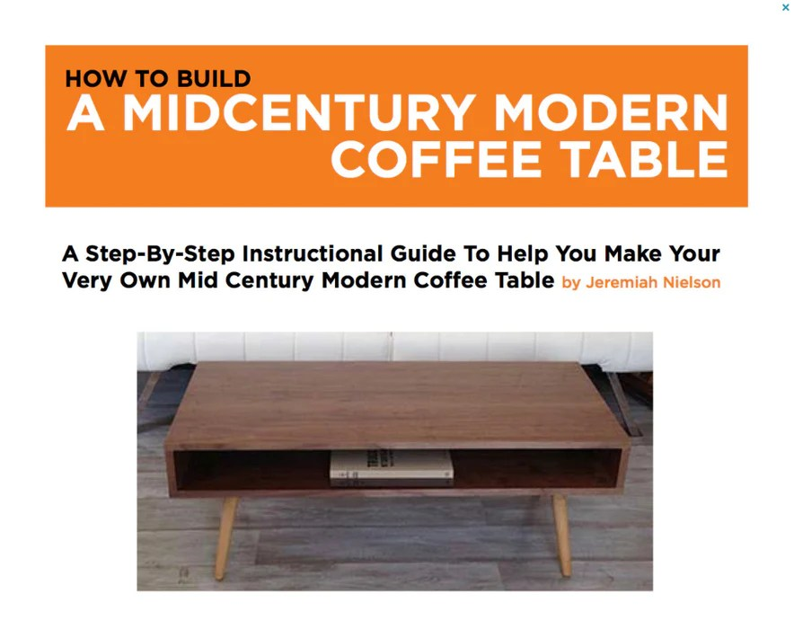 plans to build your own classic mid century coffee table