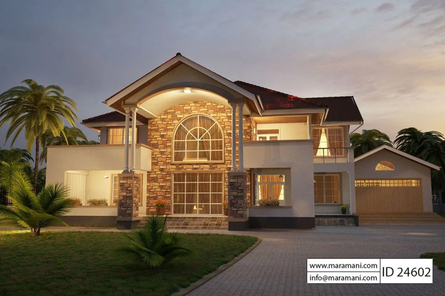 4 Bedroom House Plan   ID 24602   House Plans by Maramani House Plan ID 24602   Maramani com   1