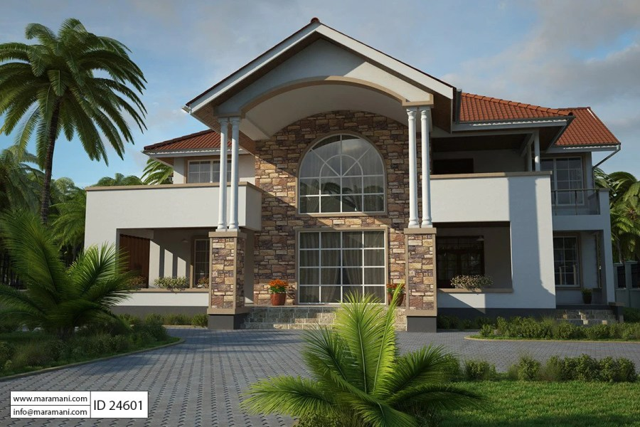 4 Bedroom House Plans   Designs for Africa   House Plans by Maramani 4 Bedroom House Plan   ID 24601