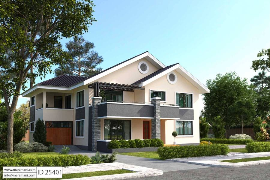 5 Bedroom House Plan   ID 25401   Floor Plans by Maramani
