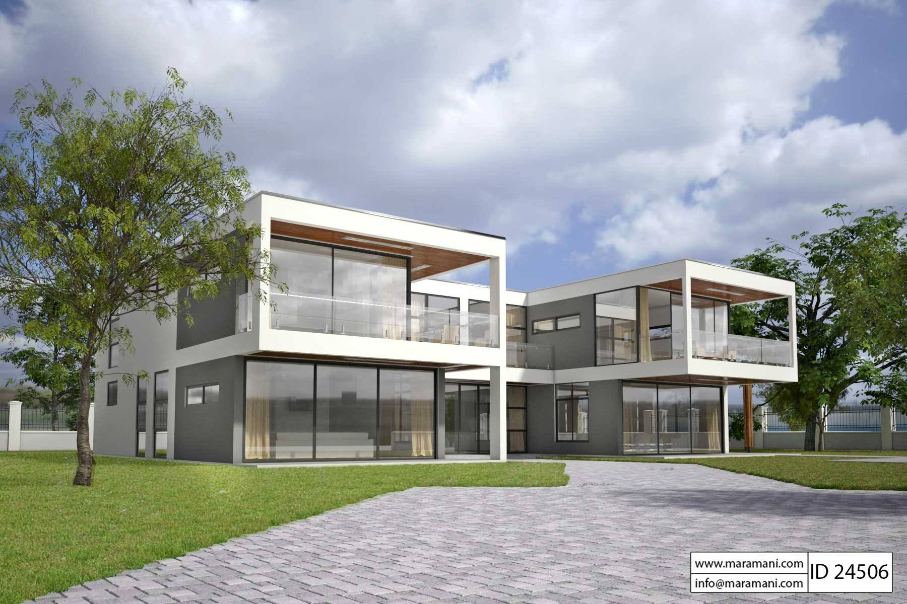 Modern Glass House Design - ID 24506 - House Plans by Maramani on Modern Glass House Design  id=71626