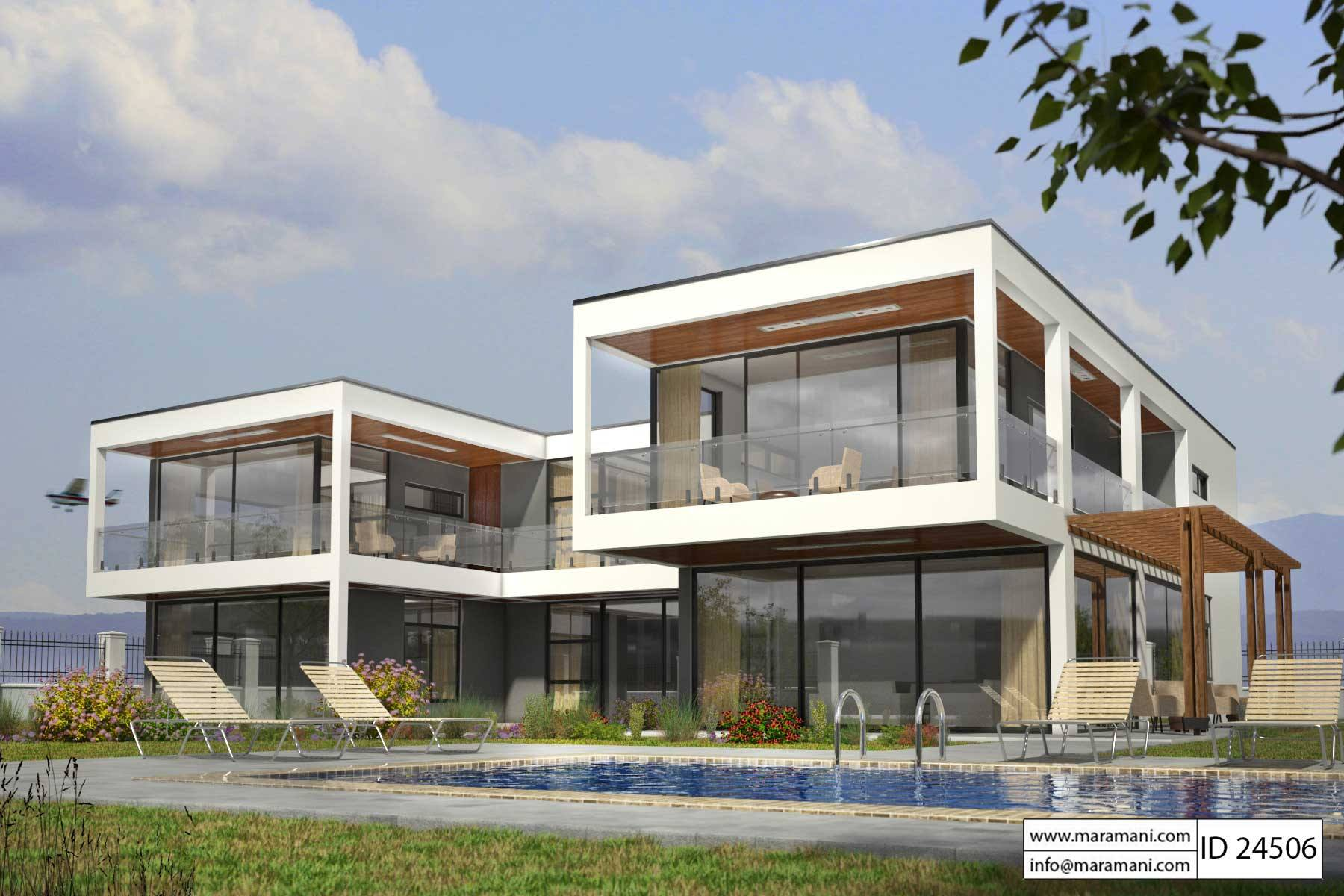 Modern Glass House Design - ID 24506 - House Plans by Maramani on Modern Glass House Design  id=61171