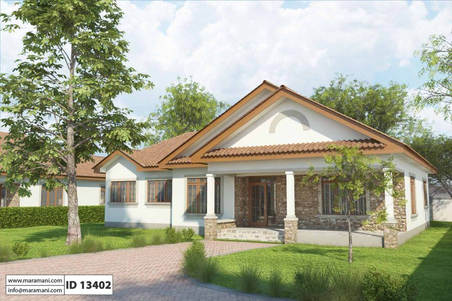 Simple 3 Bedroom House Plan   ID 13402   House Designs by Maramani