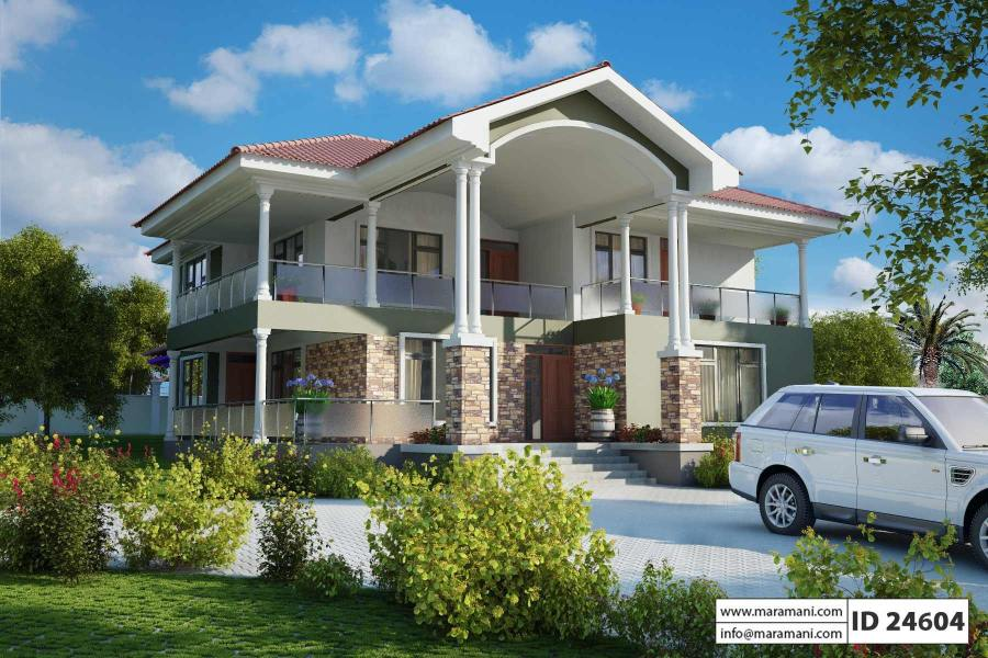 4 Bedroom 2 story House Plan   ID 24604   House Plans by Maramani