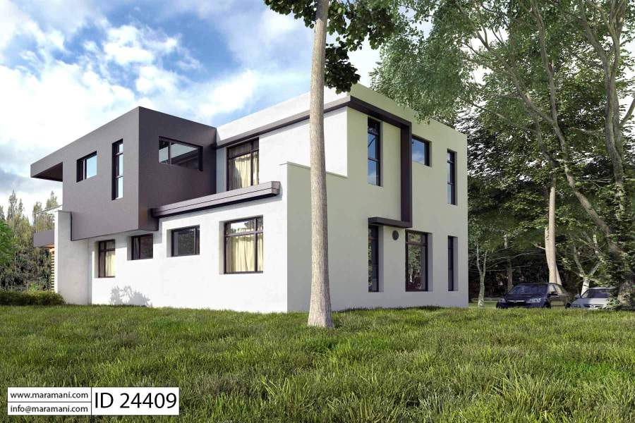 Modern 4 bedroom House Plan   ID 24409   Designs by Maramani