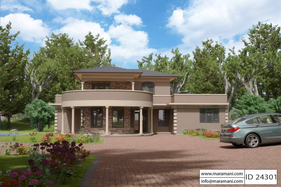 Contemporary 4 Bedroom House Plan   ID 24301   Building Plans by     Contemporary 4 Bedroom House Plan   ID 24301   Building Plans by Maramani