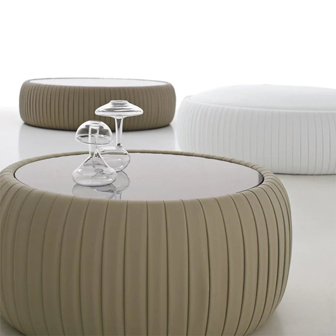 plisse coffee table