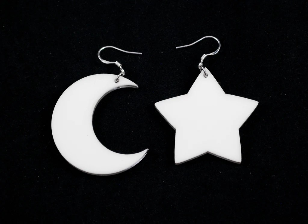 Countdown to oct 31, 2021. 90s Glow Up Star and Moon Earrings Halloween 2021 Collection - Clinkorz