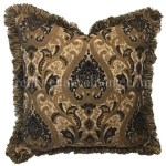 Decorative Pillow Bronze And Black Sofa Pillow 21x21 Reilly Chance Collection