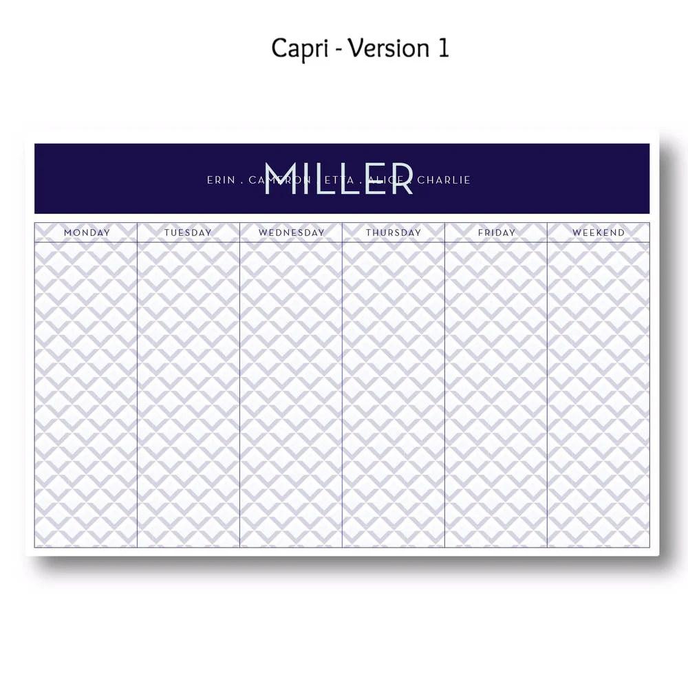 Capri Personalized Desk Pad Paper Amp Pearl
