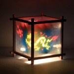 Dragon Phoenix Rotating Kids Nightstand Lamp Magic Lamp