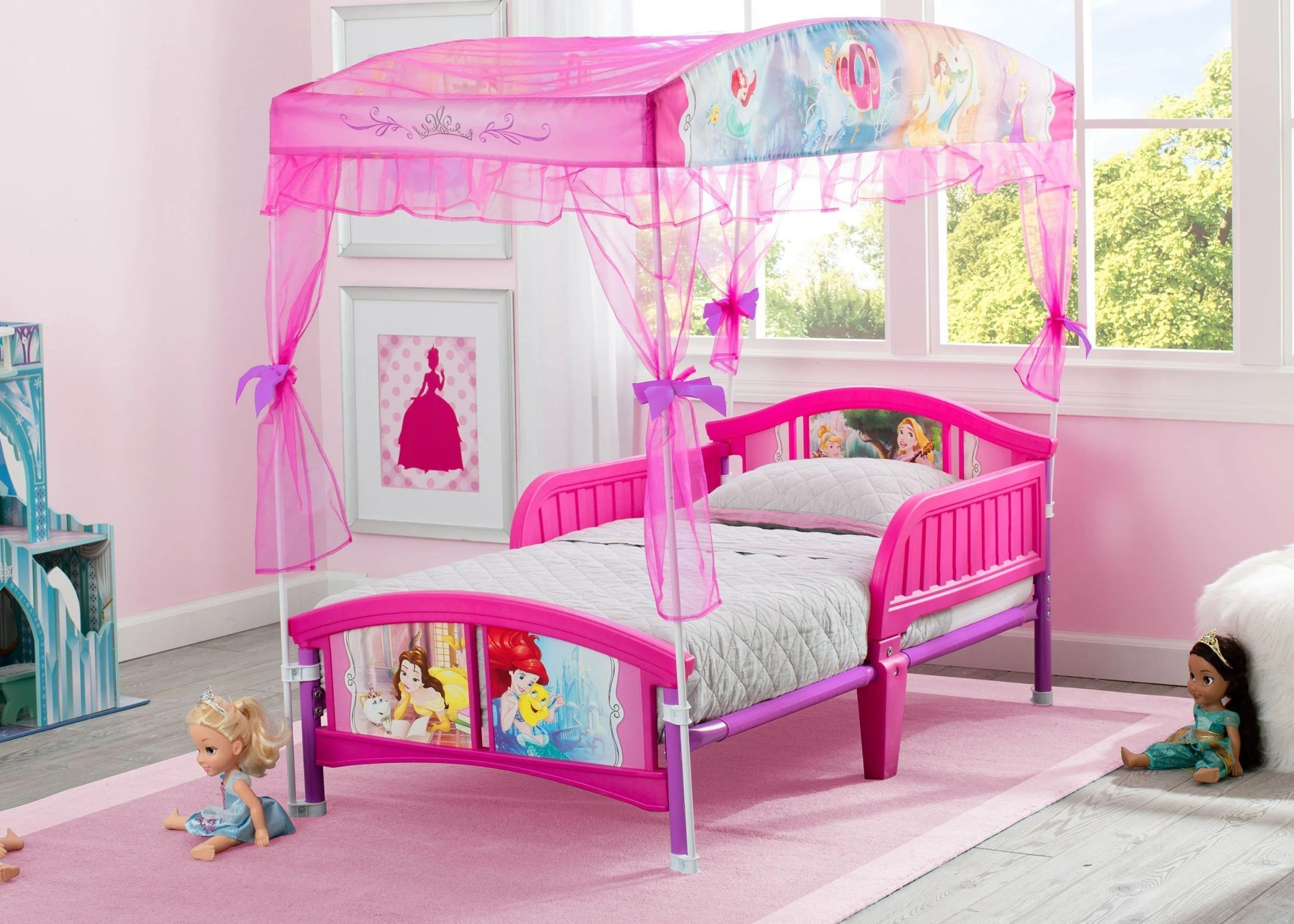 Princess Canopy Toddler Bed Delta Children