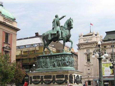 spomenik knez mihailo trg republike konj beograd