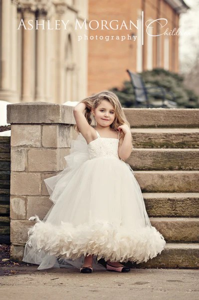 Black Flower Silver Girl Dresses And