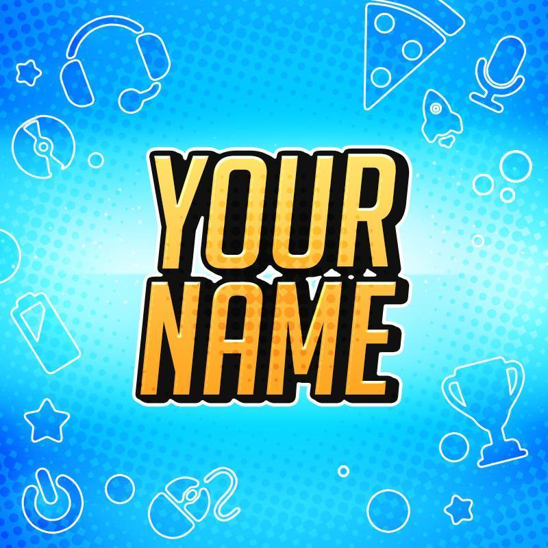 """YouTube Avatar Template - """"Gamer"""" – Woodpunch's Graphics Shop"""