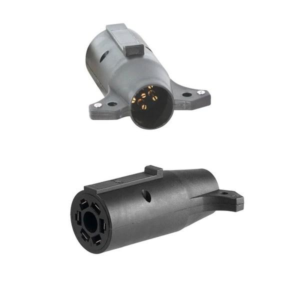 Trailer Plug Adapter  6 Prong Trailer Plug to 7 RV Blade