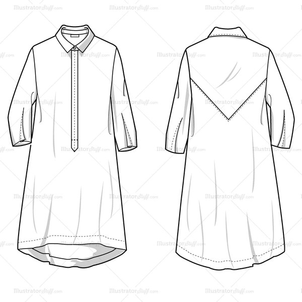 Flat Dress Shirts Sketches