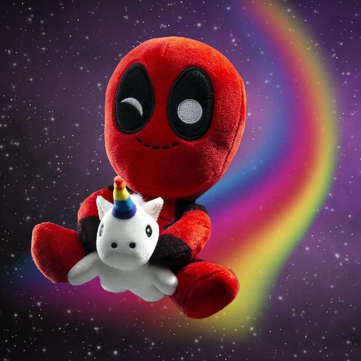 100% Polyester - Marvel Deadpool Riding A Unicorn Plush