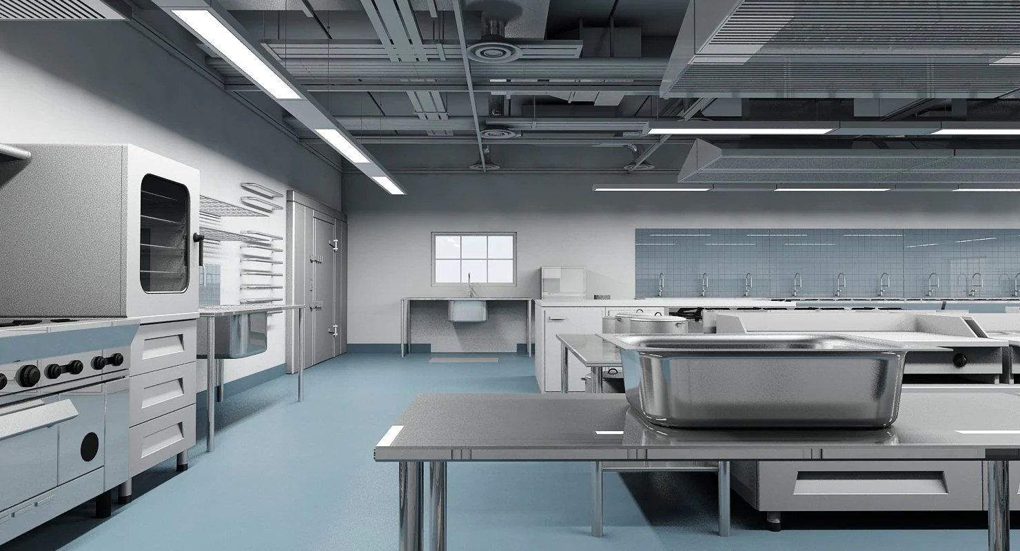 Commercial Kitchen 3D Model - WireCASE on Modern:8-Rtxafges8= Model Kitchen  id=20407
