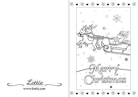 Christmas Colouring Card 3 Lottie Dolls