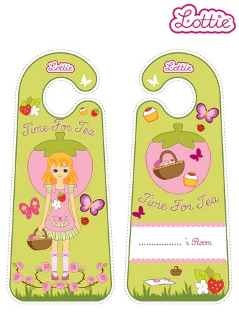 English Country Garden Lottie Printable Door Hangers