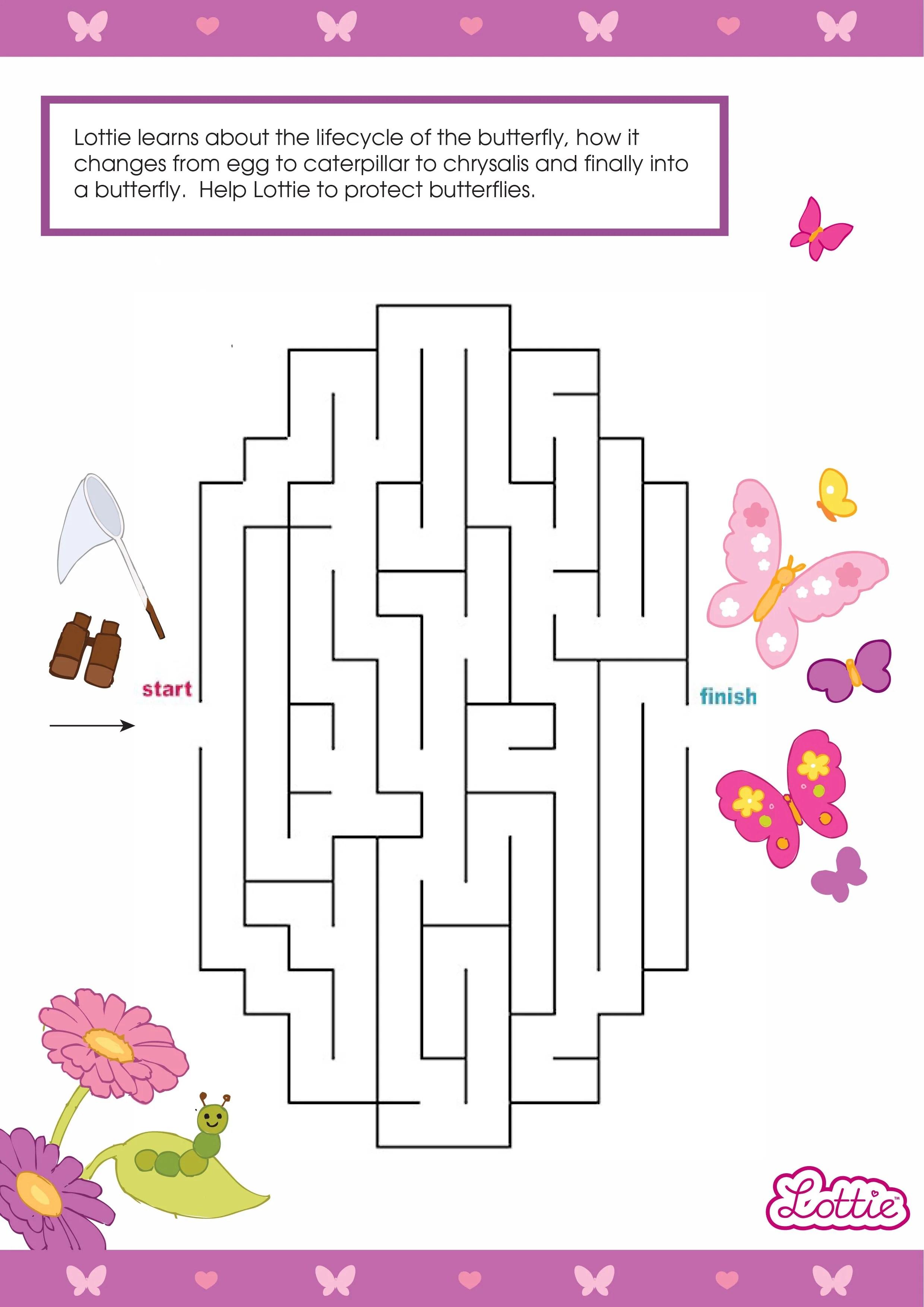 Maze Fall Preschool And Worksheets