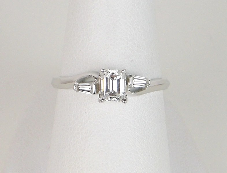Vintage emerald cut engagement ring     Gleim The Jeweler Vintage emerald cut engagement ring