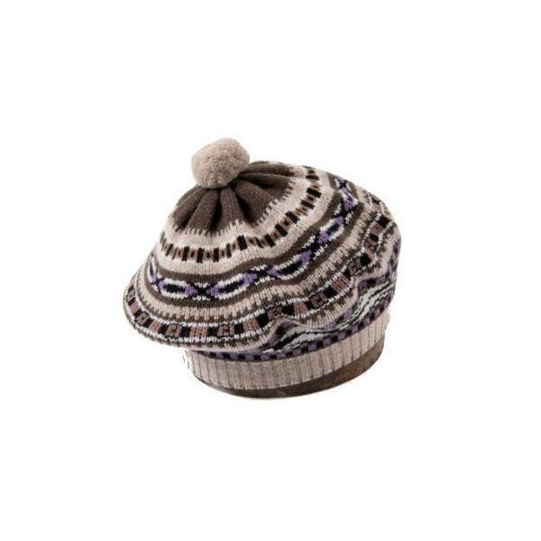 Vintage Fairisle Wool Beret Quinton Amp Chadwick Knitwear