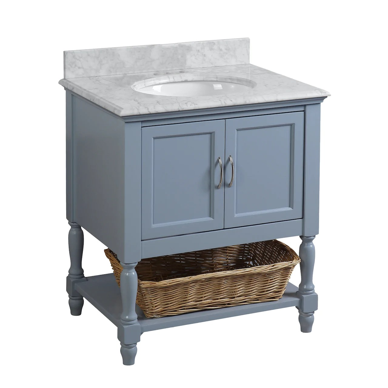 beverly 30 inch vanity with carrara marble top
