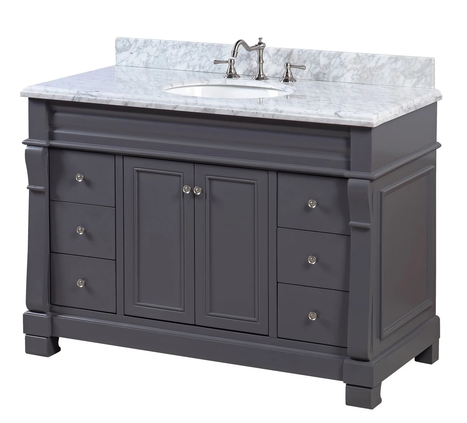 westminster 48 inch vanity with carrara marble top