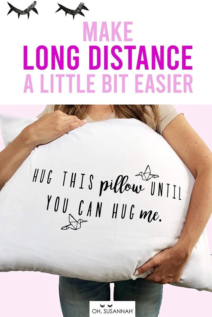 hug this pillow until you can hug me ldr pillow case