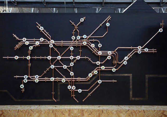 Pipework London Tube Map   Coat Rack   Do Shop Pipework London Tube Map   Coat Rack   Nick Fraser   Do Shop