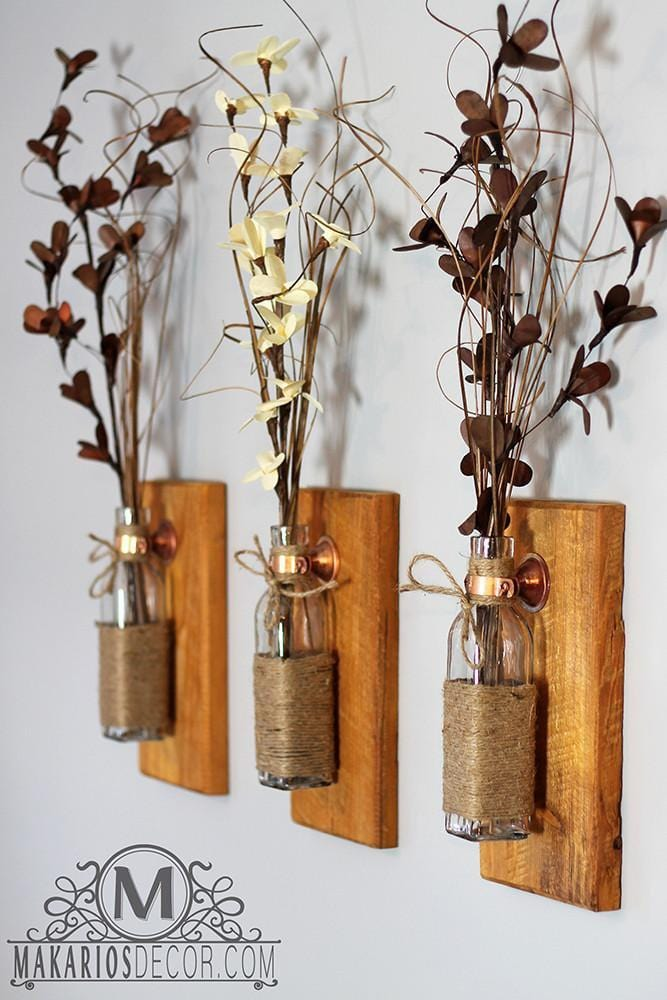 Shop Makarios Rustic Wall Sconces - Reclaimed Wood Wall ... on Rustic Wall Sconces id=90537