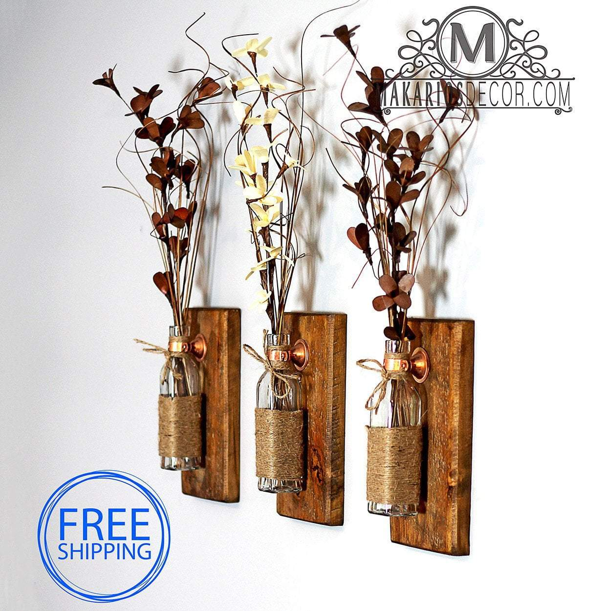 Shop Makarios Rustic Wall Sconces - Reclaimed Wood Wall ... on Wood Wall Sconces id=48743