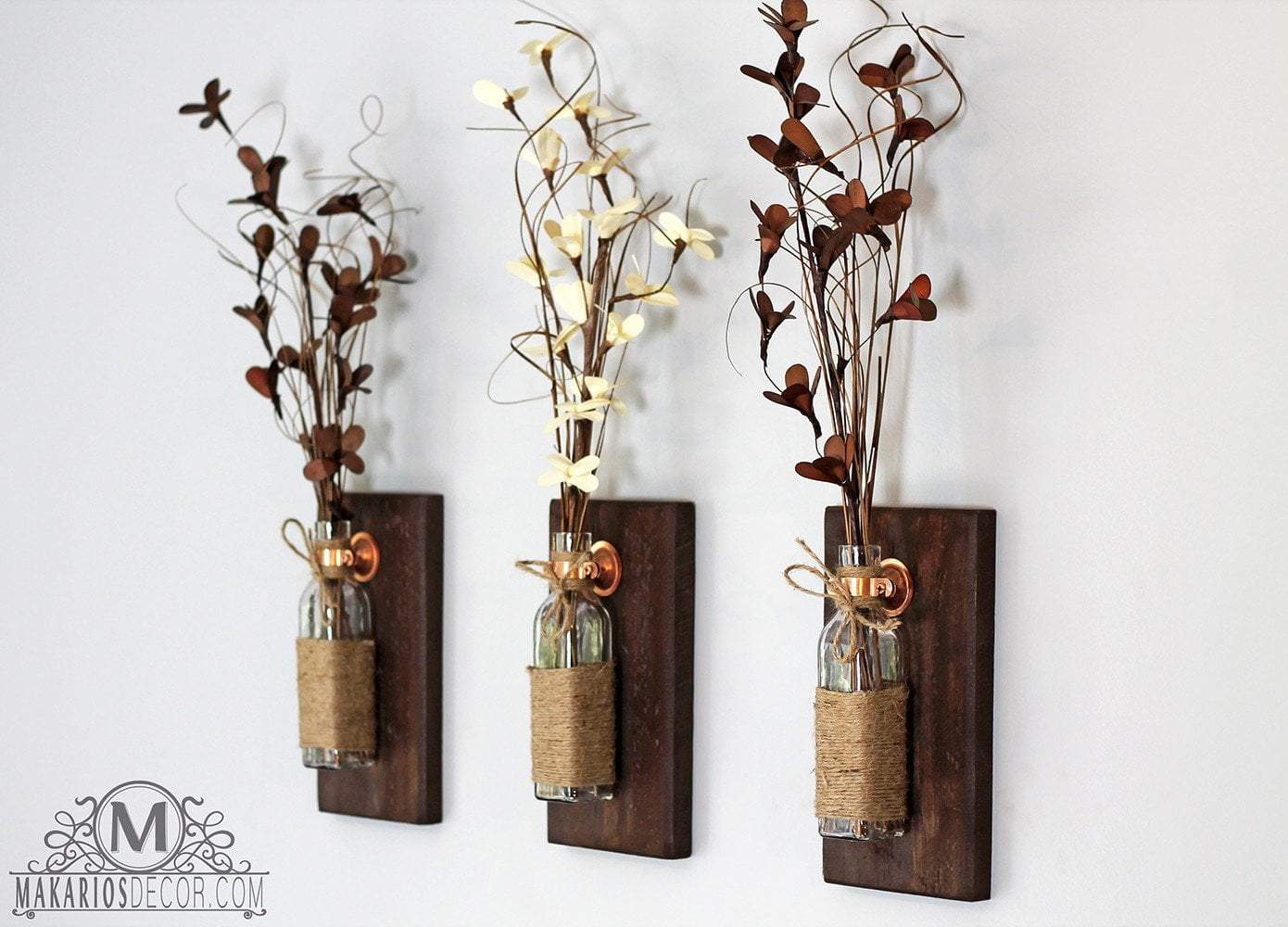 Shop Makarios Rustic Wall Sconces - Reclaimed Wood Wall ... on Wood Wall Sconces id=82203