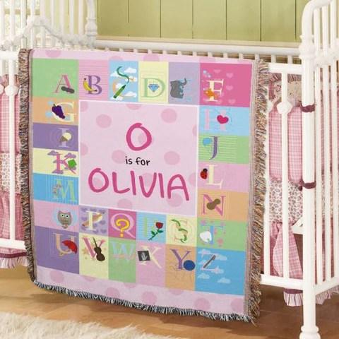 Alphabet Tapestry Throw Blanket