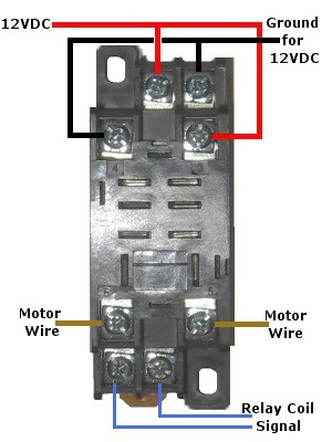 12 Volt DoublePole DoubleThrow Relay Quick Connect Socket