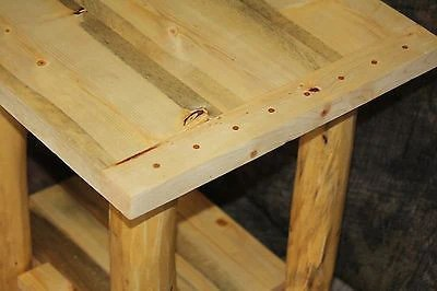 rustic log coffee table and 2 end tables set cabin lodge country log furniture choice of tops shipping is 105 00 for set