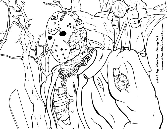 jason voorhees coloring pages | Coloring Page for kids