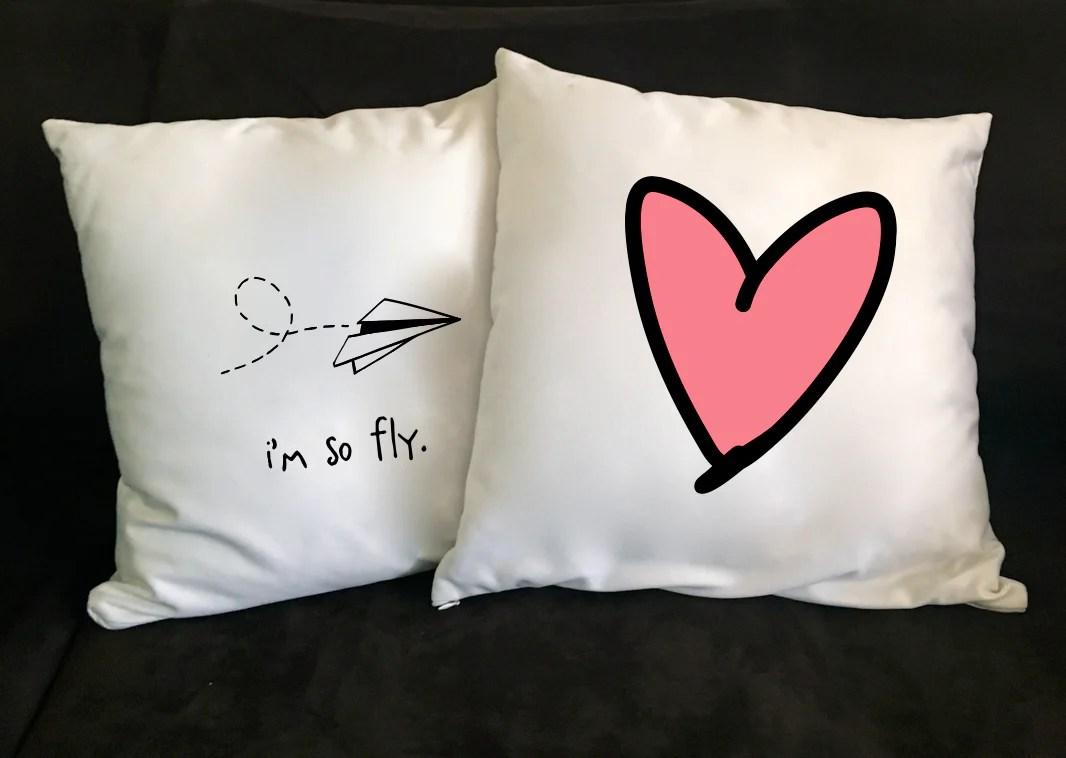 i heart pink 18 x 18 pillow