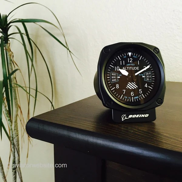 BOEING COCKPIT ALTIMETER Desk Clock AVIATORwebsite