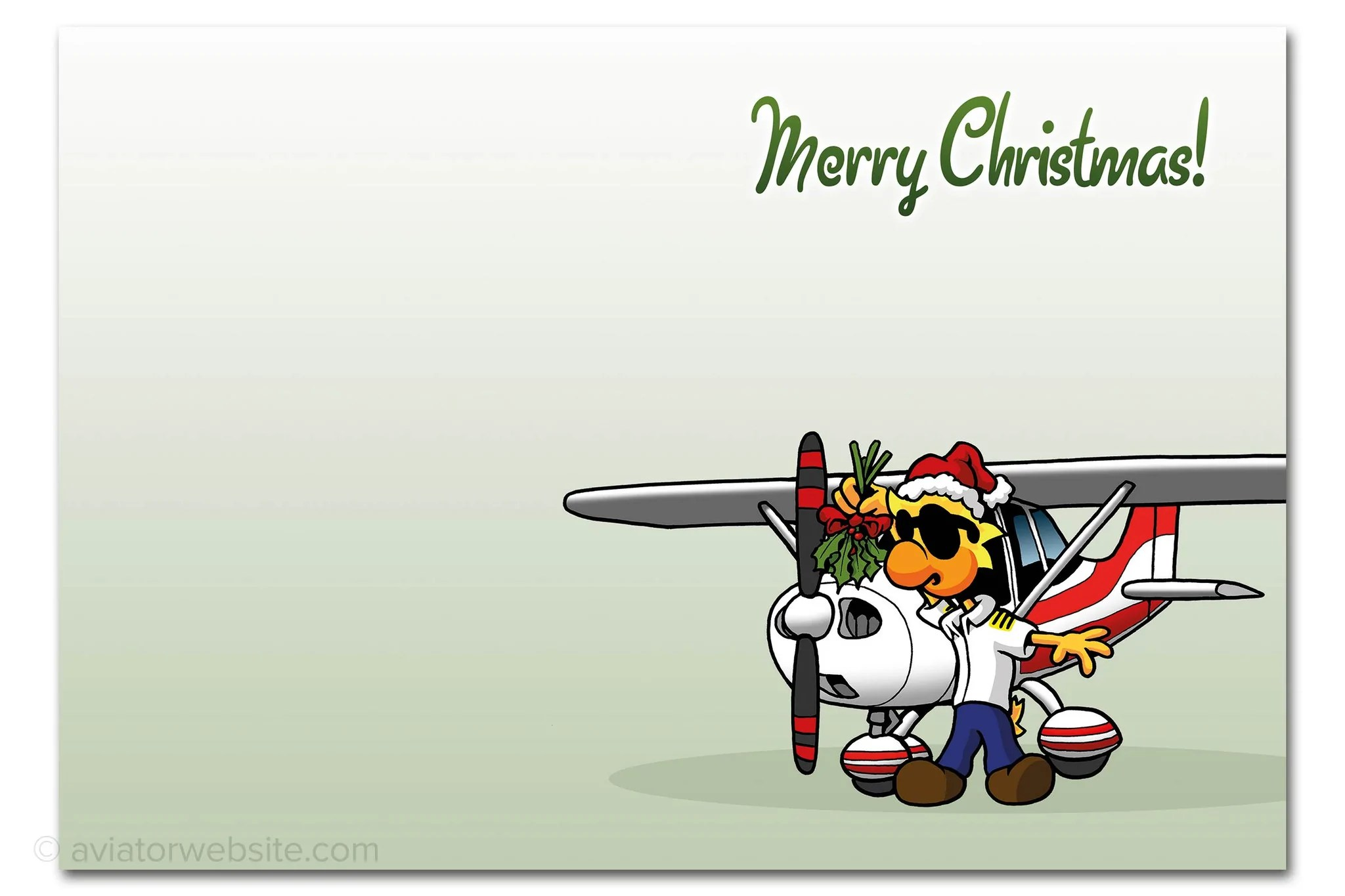Aviation Christmas Cards For Pilots And Airplane Geeks