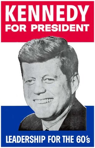 john f kennedy presidential campaign poster 11x17