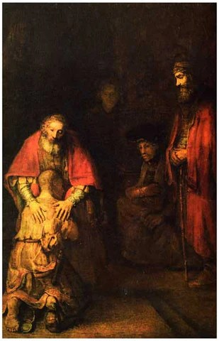 Rembrandt Return Of The Prodigal Son Barouque Art Poster