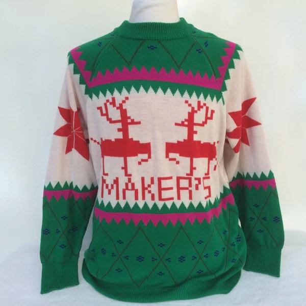 Makers Mark Ugly Christmas Sweater Large Bar Closet