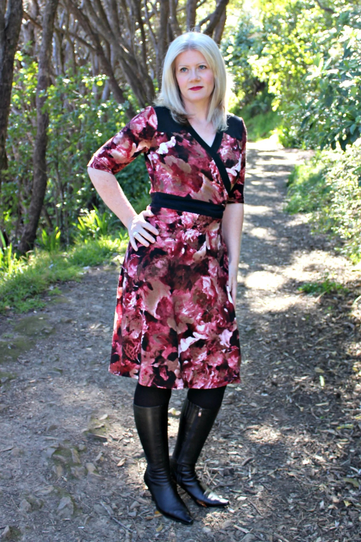 Gillian wrap dress from Muse Patterns
